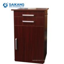 SKS013 Cabinets de rangement de chevet en bois solide de médecine d'hôpital