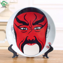 Classic Style White Bulk Porcelain Unbreakable Plates Ceramic dishes plates