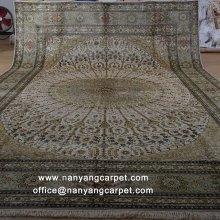 12'x18' Tabriz Persian Silk Rug Handwoven