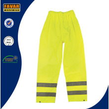 Elasticated Waist Hi-Vis Reflective Waterproof Rain Trousers