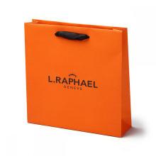 Flat Handle Printed Kraft Paper Shopping Bag