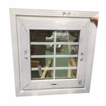 Waterproof white profile color new window grills design  double reflective glass  bathroom window grill design