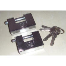Chrome Plated Rectangular Iron Padlock