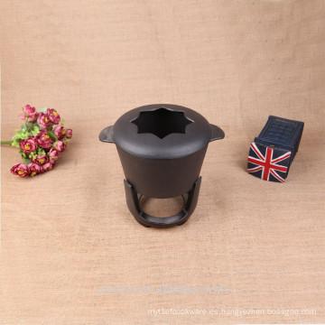 Juego de fondue de hierro fundido Preseasoned