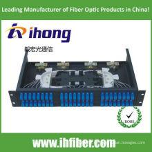 Panel de conexión de fibra óptica SC 48 montado en bastidor de 19 pulgadas