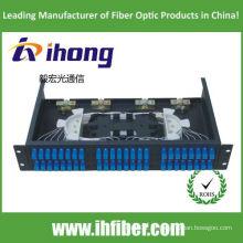 Painel de conexão de fibra óptica SC 48 montado em rack de 19 polegadas