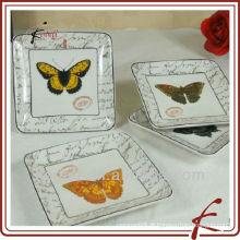 Best Selling Ceramic Porcelain cerâmica bolo prato
