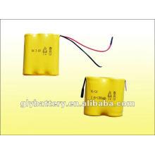AA 3.6V /2.4V 1300 bateria recarregável para luz de emergência