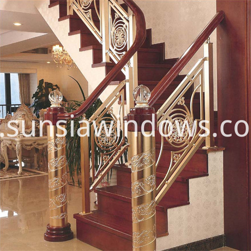 Aluminum and Copper Stail Handrail