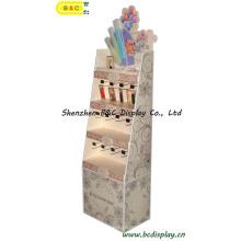 Berühmte Marken-Lippenstift-Pappboden-Haken-Ausstellungsstand, Papieranzeige mit SGS (B & C-B002)