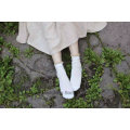 New Style Sweet Girl Crew Cotton Socks with Shinning Lace Cuff Veery Fashion Design