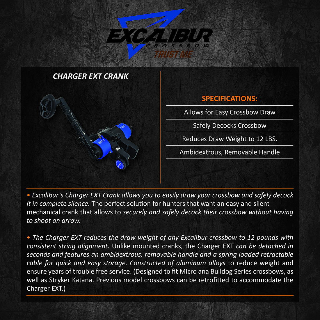 Excalibur_Charger_EXT_Crank_Product_Description