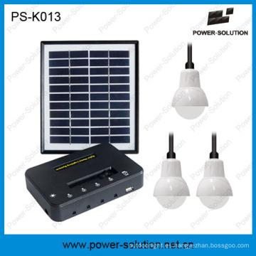 Mini sistema portátil de iluminación de energía solar con panel solar 11V 4W y cargador de teléfono USB