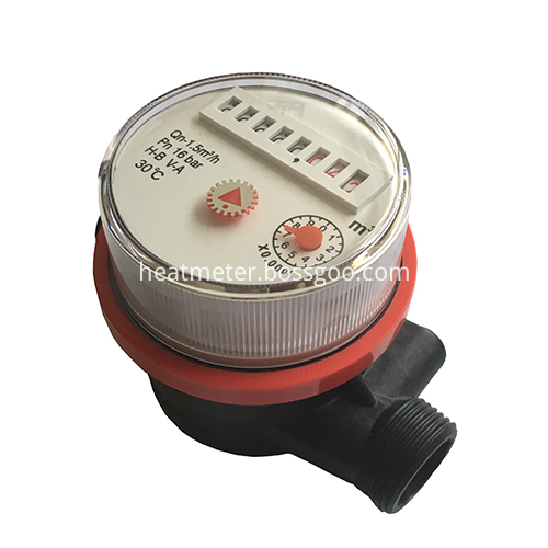 Economical Single-Jet Dry Type Cold Hot Plastic Water Meters