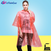 Factory manufacture disposable pe adult rain poncho