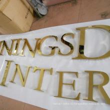 Буквы с подсветкой из нержавеющей стали с титановым покрытиями (УБК-13)