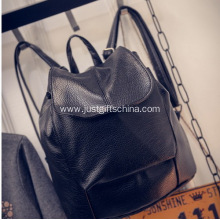 Promotional Black Color Leather Backpacks