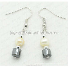 Fashion Hematite Drum Beads Earring