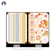 Wholesale Bride Tribe Chain Skin Sticker Tattoo,sex style for lady and with environment material