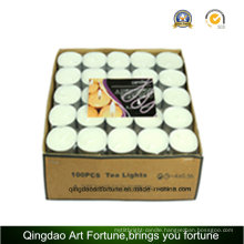 100PC Valude Packed 14G White Tealight Candle