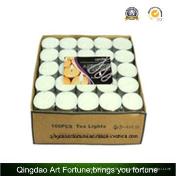 100PC Valude verpackte 14G weiße Teelichtkerze
