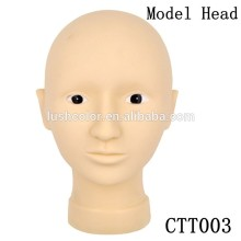 Permanent Makeup Practice Model Head With Opened Eyes For Face Painting