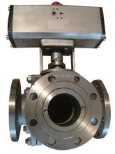 Pneumatic Tee Ball Valve(pneumatic ball valve,tee ball valve,ball valve)