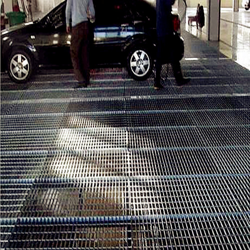 Indoor Steel Grating Parking Floor