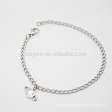 Уникальные подвесные серебряные браслеты из цельного браслета из цельного браслета сделаны в Китае
