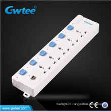 Universal power socket ,power strip with overload protection