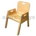 Cadeira de empilhamento de madeira para crianças (81442-81444)