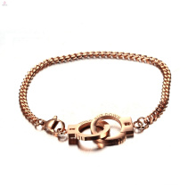 316L Stainless Steel Chain Charm Handcuff Bracelet