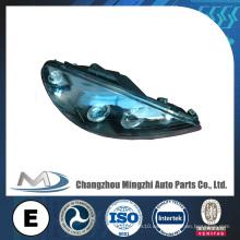 Autopartes de automóvil Luz de coche Luz de cabeza Cristal negro W / RIM Peugeot 206