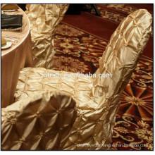 Luxo tafetá pintuck casamento tampa da cadeira de conferência