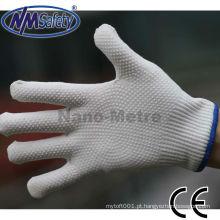 Amostra livre da segurança da luva da mão do algodão do pvc de NMSAFETY 13g mini algodão pontilhado