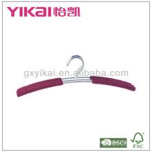 EVA foam padded chrom plated iron metal hanger