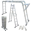 Folding Ladder Multi-function Aluminium Extension 7 in 1 Step Heavy Duty Combination ladder 4.7m