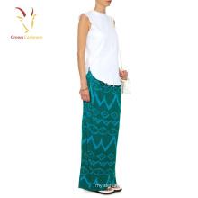 Último modelo de diseño de falda larga