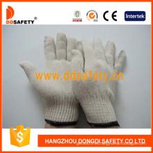 Guantes de trabajo de algodón / poliéster natural blanco -Dck410