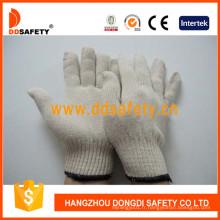 Gants de travail blancs blancs de polyester de coton Dck410