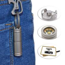 Lanterna USB lanterna recarregável de titânio ajustável LED