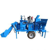 M7MI TWIN semi automatic interlocking brick making machine