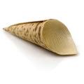 Cones de bambu descartáveis naturais