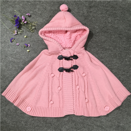kids sweater poncho-1