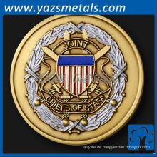 fertigen Sie Metallmünzen besonders an, kundenspezifische Joint Chiefs of Staff Herausforderung Münze