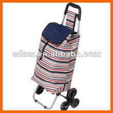 Promotional fold up shopping cart with 3 wheels