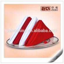100% Polyester Plain Linen Wedding or Restaurant Serviettes en tissu d'occasion