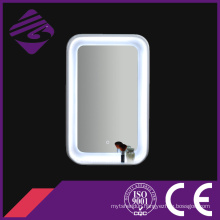 Rectangle Wood Frame LED Backlit Decorative Mirror with Touch Screen