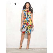 Vestido de mujer halter alto-bajo floral