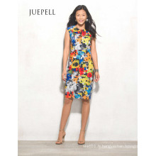 Floral Halter High-Low Femmes robe
